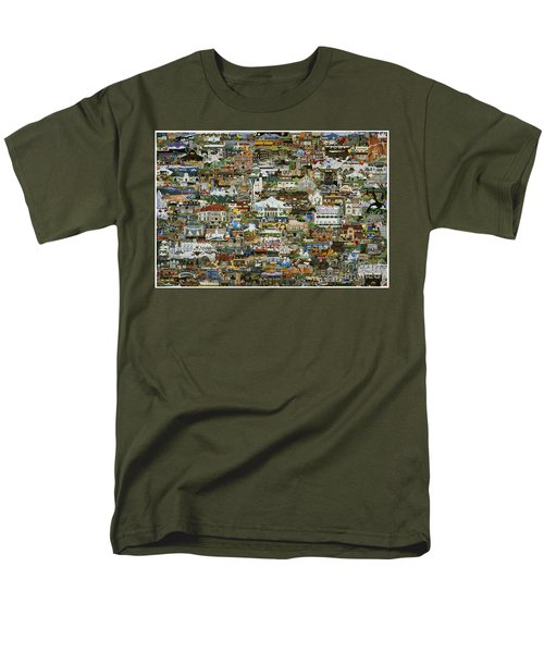 100 Painting Collage Men's T-Shirt  (Regular Fit) by Jennifer Lake