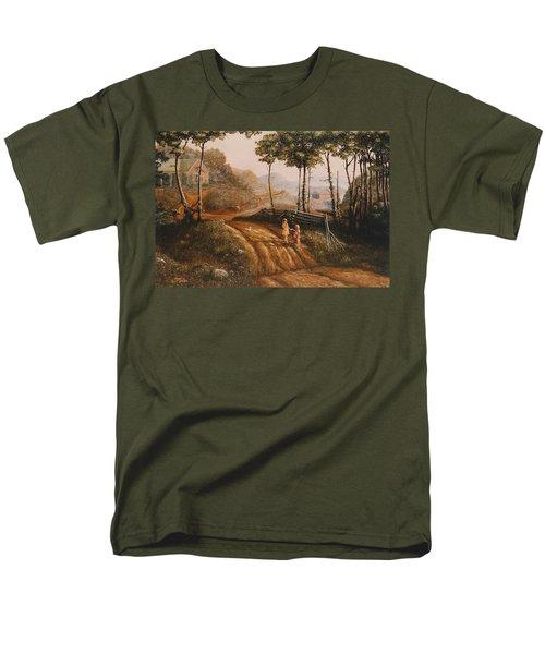 A Country Lane Men's T-Shirt  (Regular Fit) by Duane R Probus