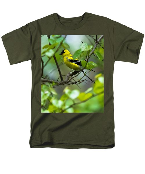 Men's T-Shirt  (Regular Fit) featuring the photograph American Goldfinch by Robert L Jackson