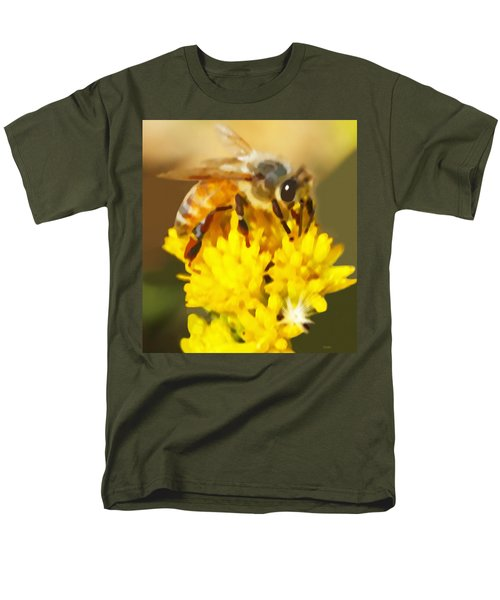 Bee On A Yellow Flower Men's T-Shirt  (Regular Fit) by Marian Cates