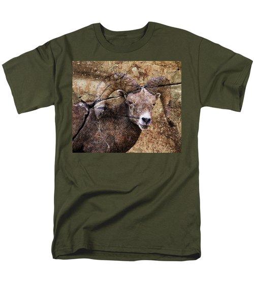 Bighorn Rock Men's T-Shirt  (Regular Fit) by Steve McKinzie