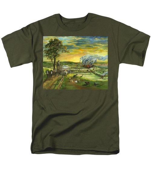Bleeding Kansas - A Life And Nation Changing Event Men's T-Shirt  (Regular Fit) by Mary Ellen Anderson
