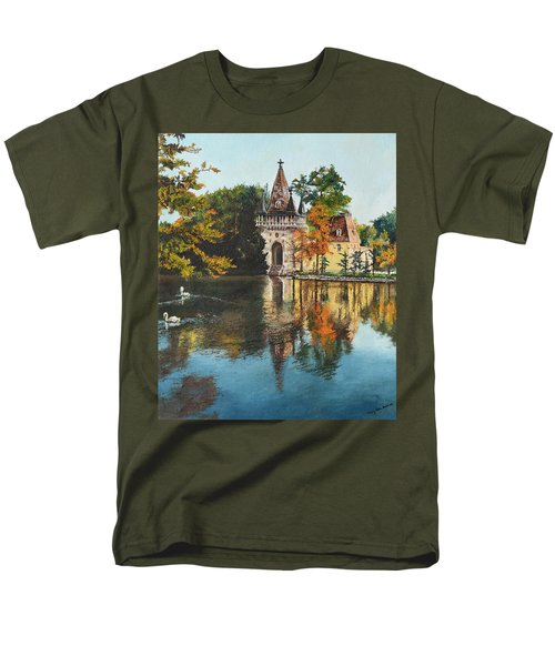 Men's T-Shirt  (Regular Fit) featuring the painting Castle On The Water by Mary Ellen Anderson