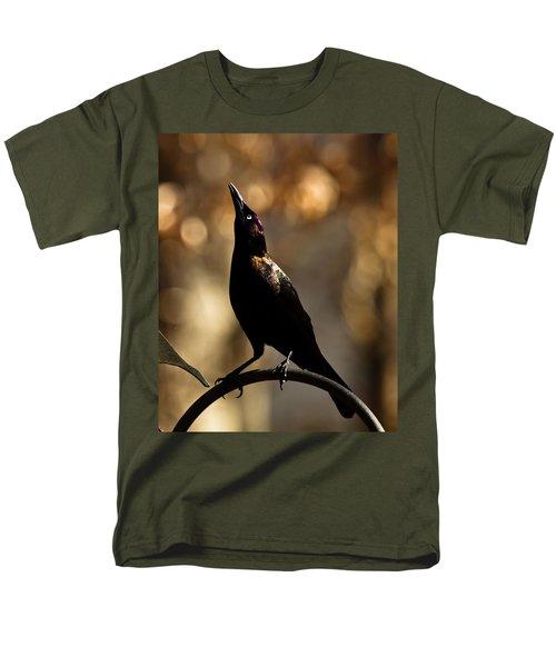 Men's T-Shirt  (Regular Fit) featuring the photograph Common Grackle by Robert L Jackson