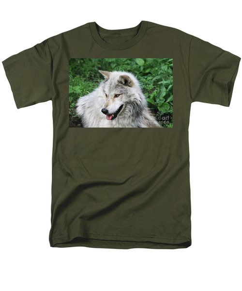 Men's T-Shirt  (Regular Fit) featuring the photograph Gray Wolf by Alyce Taylor