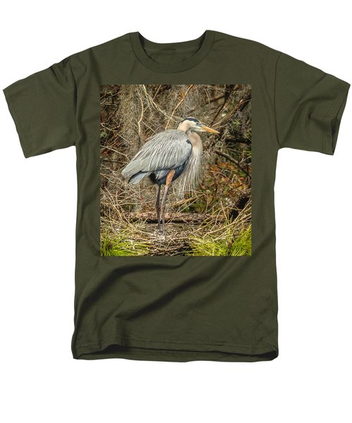 Great Blue Heron Men's T-Shirt  (Regular Fit) by Jane Luxton