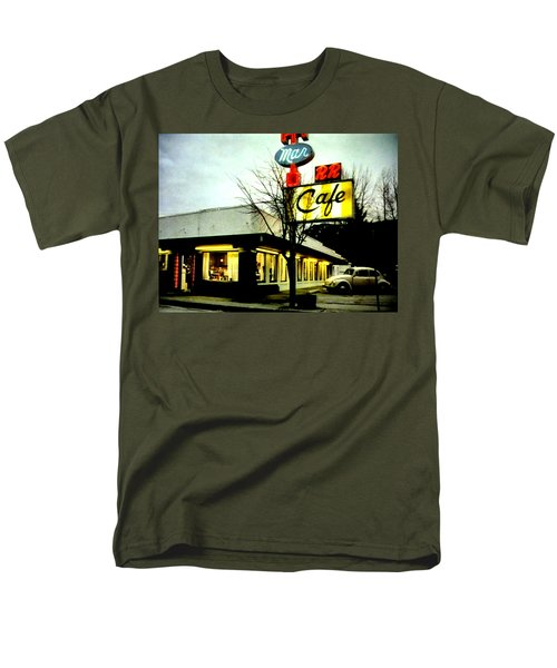 Men's T-Shirt  (Regular Fit) featuring the painting I Went For Breakfast At The Double R by Luis Ludzska