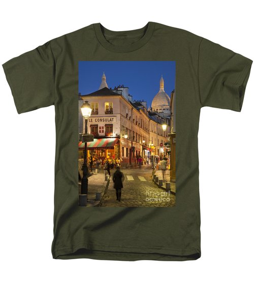Montmartre Twilight Men's T-Shirt  (Regular Fit) by Brian Jannsen