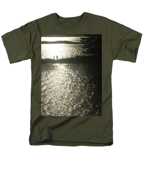 Men's T-Shirt  (Regular Fit) featuring the photograph 2 At The Beach by Mark Alan Perry