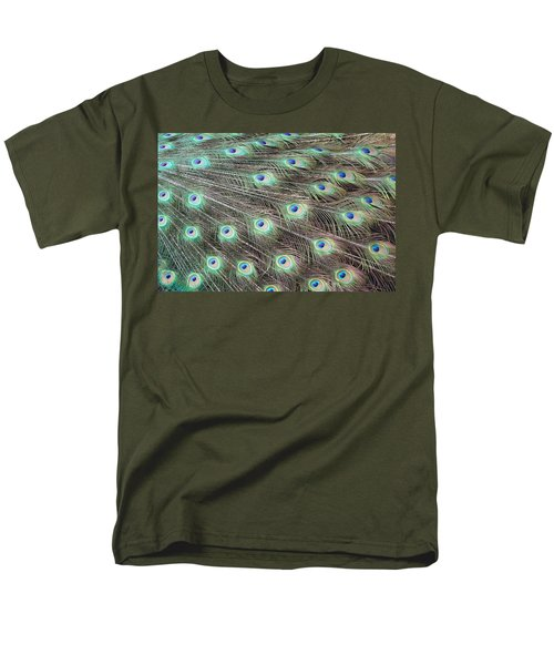 Men's T-Shirt  (Regular Fit) featuring the photograph Peacock Feather Fiesta  by Diane Alexander