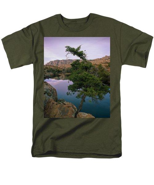 Post Oak Lake And Elk Mountain Men's T-Shirt  (Regular Fit)