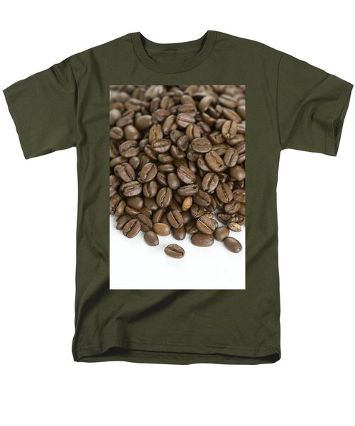 Men's T-Shirt  (Regular Fit) featuring the photograph Roasted Coffee Beans by Lee Avison