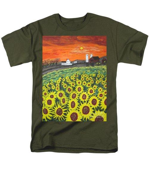 Sunflower Valley Farm Men's T-Shirt  (Regular Fit) by Jeffrey Koss