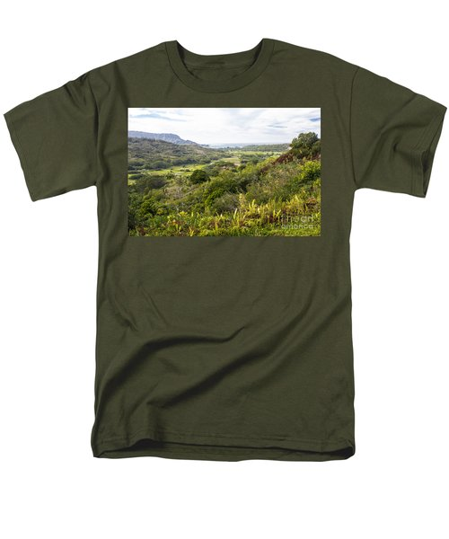 Men's T-Shirt  (Regular Fit) featuring the photograph Taro Fields by Suzanne Luft
