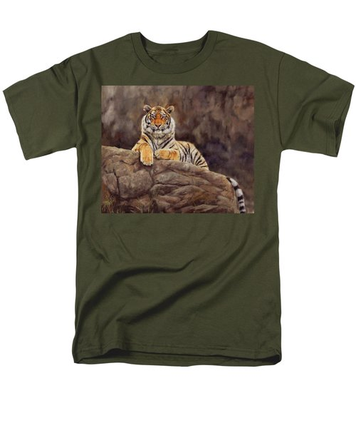 Tiger Men's T-Shirt  (Regular Fit) by David Stribbling