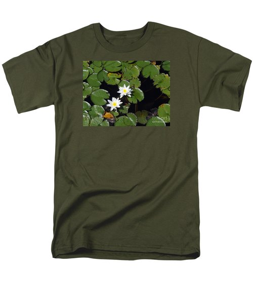Men's T-Shirt  (Regular Fit) featuring the photograph 2 Water Lily by Robert Nickologianis