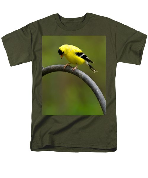 American Goldfinch Men's T-Shirt  (Regular Fit) by Robert L Jackson