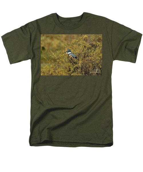 Belted Kingfisher With Fish Men's T-Shirt  (Regular Fit)