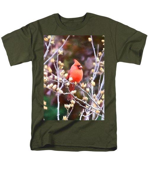 Men's T-Shirt  (Regular Fit) featuring the photograph Cardinal by John Freidenberg