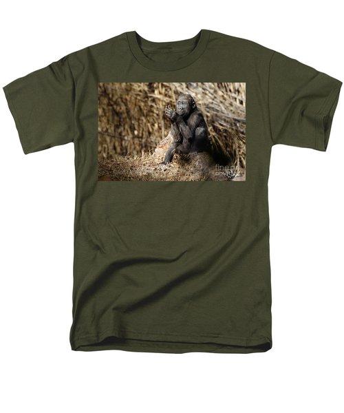 Quiet Juvenile Gorilla Men's T-Shirt  (Regular Fit)