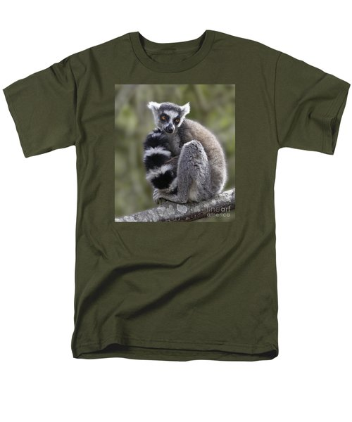 Ring-tailed Lemur Men's T-Shirt  (Regular Fit) by Liz Leyden