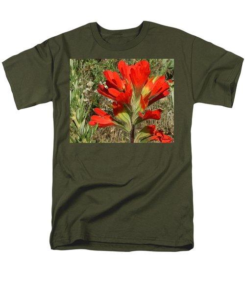 Texas Paintbrush Men's T-Shirt  (Regular Fit)