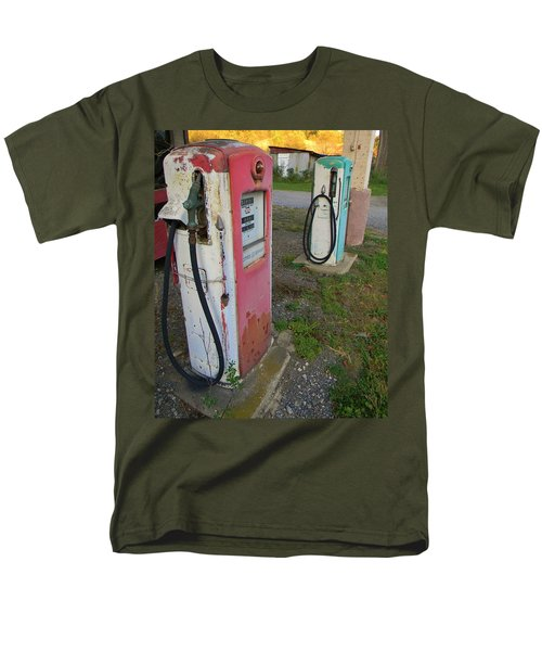 Men's T-Shirt  (Regular Fit) featuring the photograph 33 Cents Per Gallon by Jean Goodwin Brooks