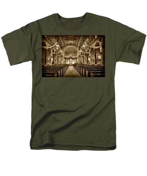 Holy Cross Catholic Church Men's T-Shirt  (Regular Fit) by Amanda Stadther