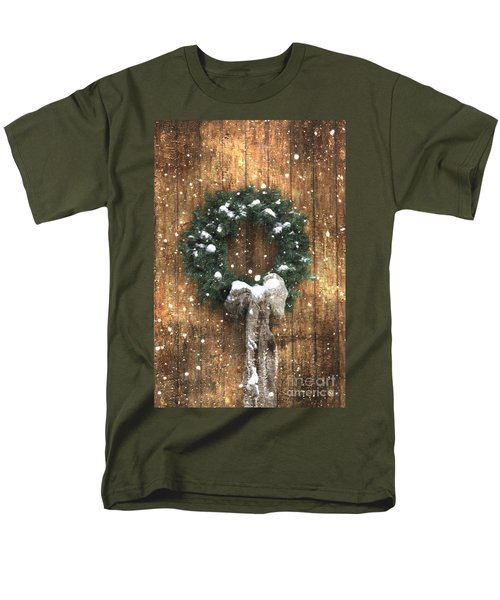 A Country Christmas Men's T-Shirt  (Regular Fit) by Benanne Stiens