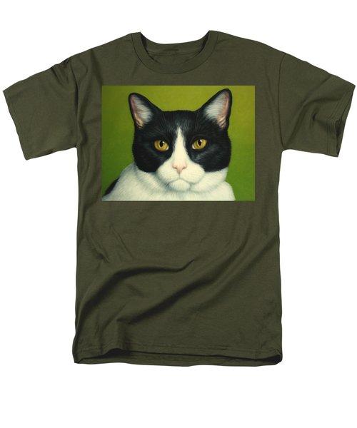 A Serious Cat Men's T-Shirt  (Regular Fit) by James W Johnson