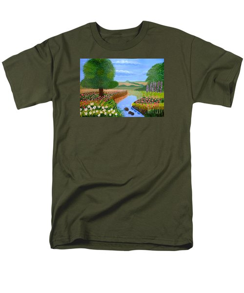 A Spring Stream Men's T-Shirt  (Regular Fit) by Magdalena Frohnsdorff