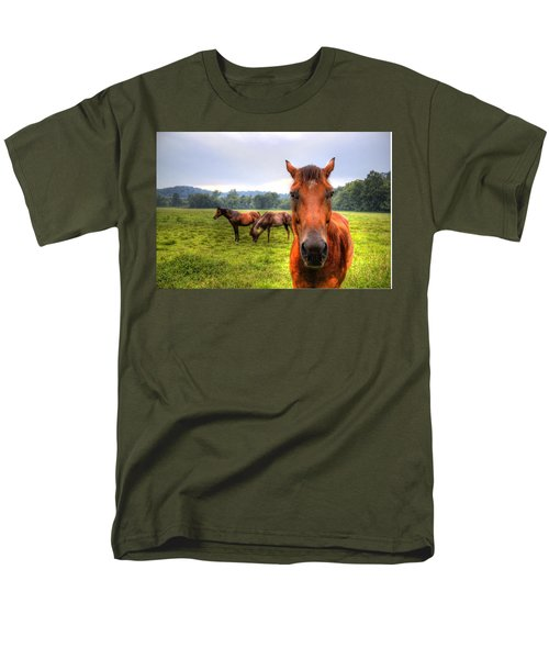 Men's T-Shirt  (Regular Fit) featuring the photograph A Starring Horse 2 by Jonny D