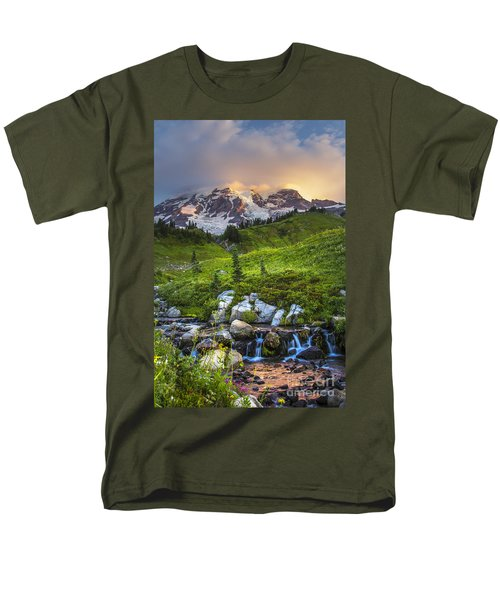 Above Myrtle Falls 3 Men's T-Shirt  (Regular Fit) by Sonya Lang