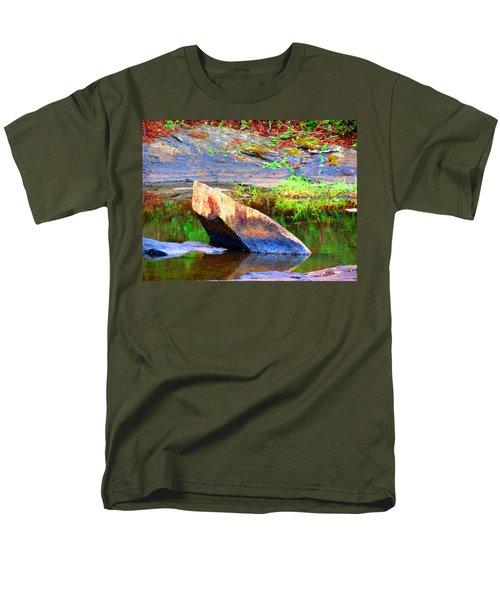 Abstact Rock Men's T-Shirt  (Regular Fit) by Aaron Martens
