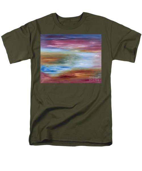 Abstract Seascape Men's T-Shirt  (Regular Fit) by Lana Enderle