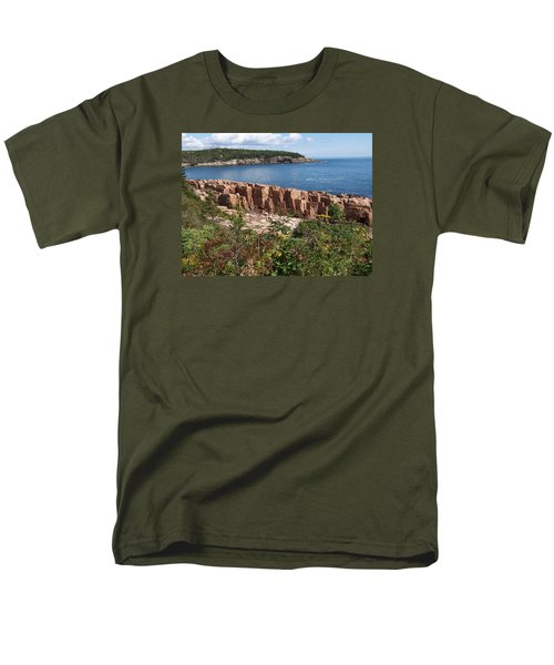 Acadia Maine Men's T-Shirt  (Regular Fit) by Catherine Gagne
