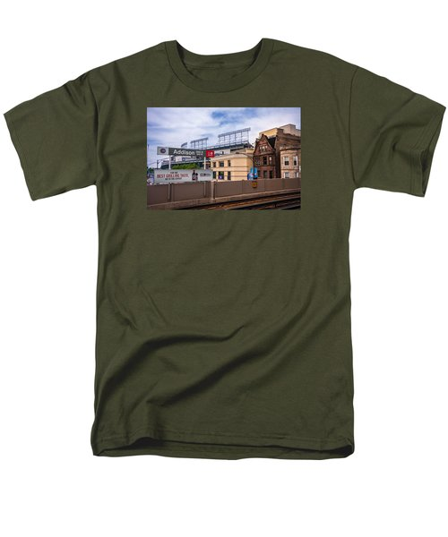 Addison Street Station Men's T-Shirt  (Regular Fit) by Tom Gort
