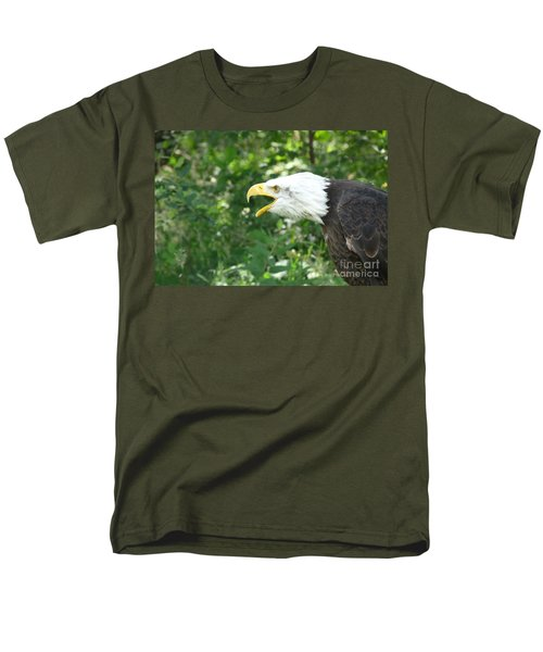 Men's T-Shirt  (Regular Fit) featuring the photograph Adler Raptor Bald Eagle Bird Of Prey Bird by Paul Fearn