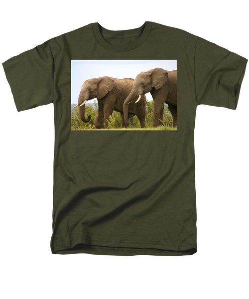 African Elephants Men's T-Shirt  (Regular Fit) by Menachem Ganon