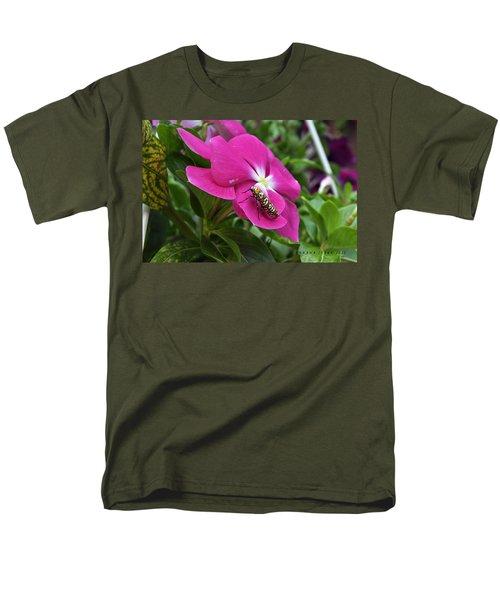 Men's T-Shirt  (Regular Fit) featuring the photograph Ailanthus Webworm Moth Visiting My Garden by Verana Stark