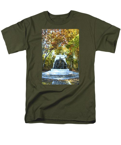Alabama Monument At Gettysburg Men's T-Shirt  (Regular Fit) by Paul W Faust -  Impressions of Light