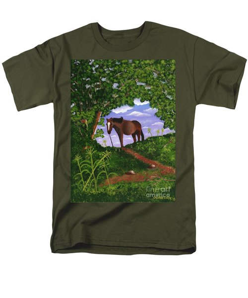 All Alone Men's T-Shirt  (Regular Fit) by Laura Forde
