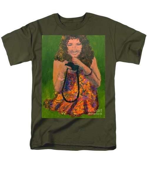 Men's T-Shirt  (Regular Fit) featuring the painting Allison by Donald J Ryker III