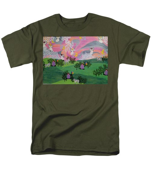 Men's T-Shirt  (Regular Fit) featuring the painting Almost Heaven by Erika Chamberlin