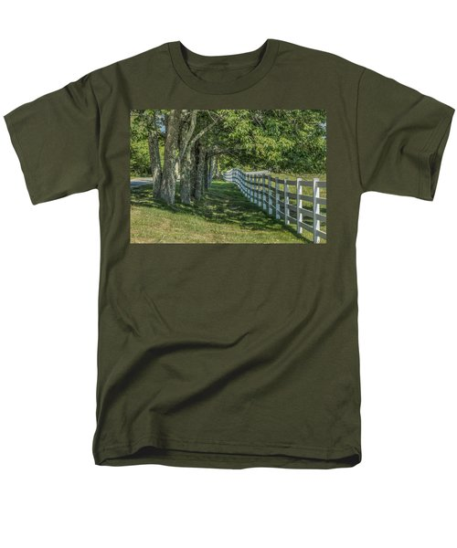 Men's T-Shirt  (Regular Fit) featuring the photograph Along A Country Road by Jane Luxton