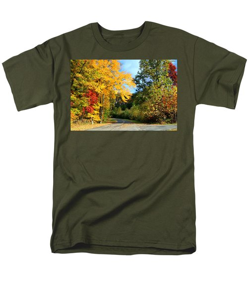 Men's T-Shirt  (Regular Fit) featuring the photograph Along The Road 2 by Kathryn Meyer