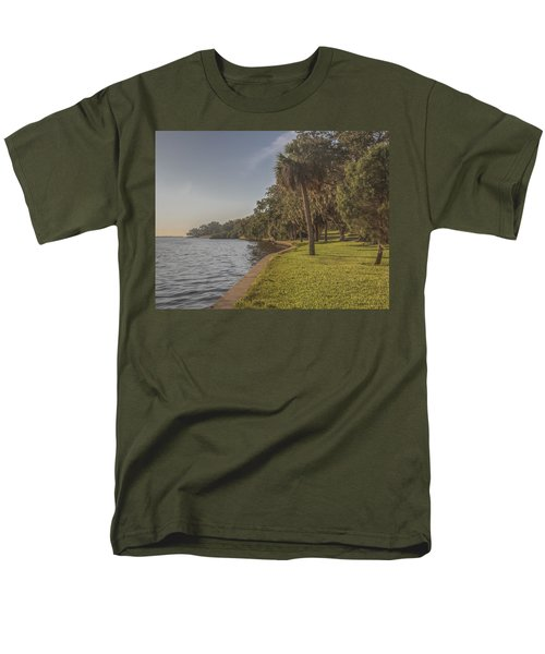 Men's T-Shirt  (Regular Fit) featuring the photograph Along The Wall by Jane Luxton
