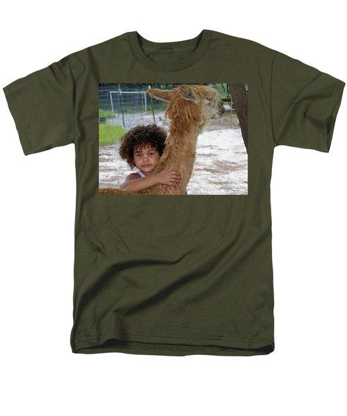Alpaca Love Men's T-Shirt  (Regular Fit) by Judy Wanamaker