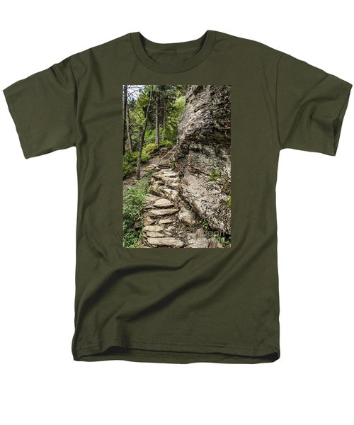 Alum Cave Trail Men's T-Shirt  (Regular Fit) by Debbie Green