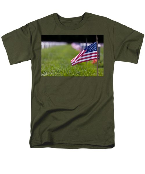 Men's T-Shirt  (Regular Fit) featuring the photograph American Flag by Jerry Gammon